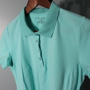 Tribal Polo Size small, Light Blue Cotton